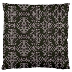 Line Geometry Pattern Geometric Large Flano Cushion Case (two Sides) by Amaryn4rt