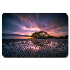 Landscape Reflection Waves Ripples Large Doormat  by Amaryn4rt