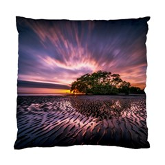 Landscape Reflection Waves Ripples Standard Cushion Case (one Side) by Amaryn4rt