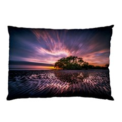 Landscape Reflection Waves Ripples Pillow Case by Amaryn4rt