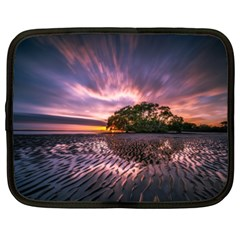 Landscape Reflection Waves Ripples Netbook Case (xxl)  by Amaryn4rt