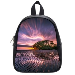 Landscape Reflection Waves Ripples School Bags (small)  by Amaryn4rt