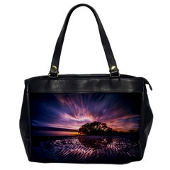 Landscape Reflection Waves Ripples Office Handbags by Amaryn4rt