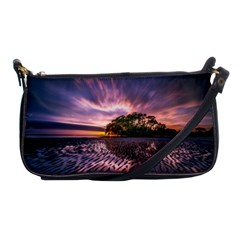 Landscape Reflection Waves Ripples Shoulder Clutch Bags by Amaryn4rt