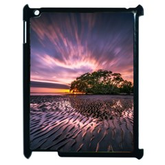 Landscape Reflection Waves Ripples Apple Ipad 2 Case (black) by Amaryn4rt