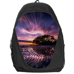 Landscape Reflection Waves Ripples Backpack Bag by Amaryn4rt