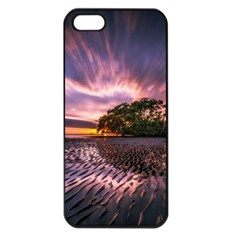 Landscape Reflection Waves Ripples Apple Iphone 5 Seamless Case (black) by Amaryn4rt
