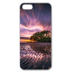 Landscape Reflection Waves Ripples Apple Seamless Iphone 5 Case (clear) by Amaryn4rt