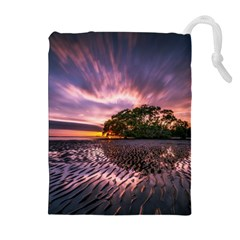Landscape Reflection Waves Ripples Drawstring Pouches (extra Large) by Amaryn4rt