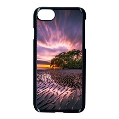 Landscape Reflection Waves Ripples Apple Iphone 7 Seamless Case (black) by Amaryn4rt