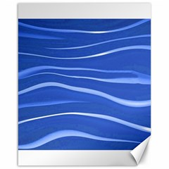 Lines Swinging Texture  Blue Background Canvas 16  X 20