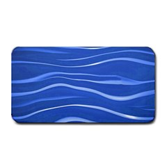 Lines Swinging Texture  Blue Background Medium Bar Mats by Amaryn4rt