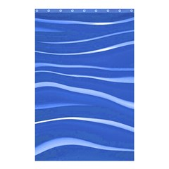 Lines Swinging Texture  Blue Background Shower Curtain 48  X 72  (small)  by Amaryn4rt