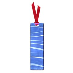 Lines Swinging Texture  Blue Background Small Book Marks