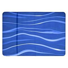 Lines Swinging Texture  Blue Background Samsung Galaxy Tab 8 9  P7300 Flip Case by Amaryn4rt