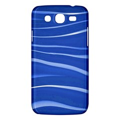 Lines Swinging Texture  Blue Background Samsung Galaxy Mega 5 8 I9152 Hardshell Case  by Amaryn4rt
