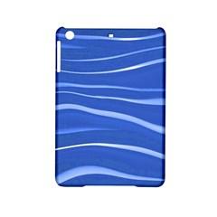Lines Swinging Texture  Blue Background Ipad Mini 2 Hardshell Cases by Amaryn4rt
