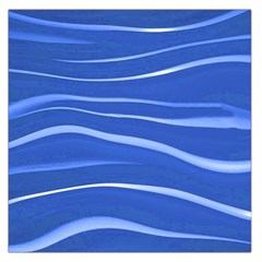 Lines Swinging Texture  Blue Background Large Satin Scarf (square) by Amaryn4rt