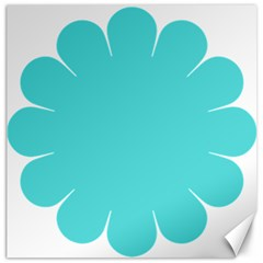 Turquoise Flower Blue Canvas 20  X 20   by Alisyart