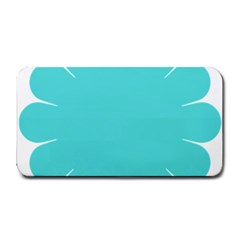 Turquoise Flower Blue Medium Bar Mats by Alisyart