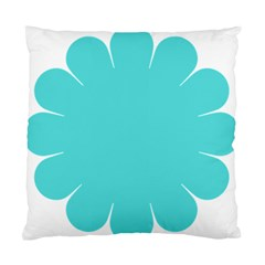 Turquoise Flower Blue Standard Cushion Case (two Sides) by Alisyart