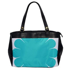 Turquoise Flower Blue Office Handbags by Alisyart