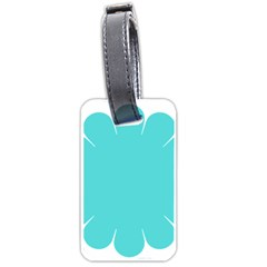 Turquoise Flower Blue Luggage Tags (two Sides) by Alisyart