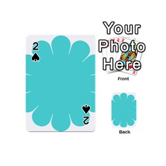 Turquoise Flower Blue Playing Cards 54 (mini)  by Alisyart