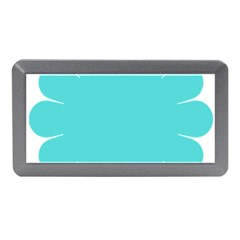 Turquoise Flower Blue Memory Card Reader (mini) by Alisyart