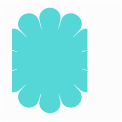 Turquoise Flower Blue Large Garden Flag (two Sides) by Alisyart