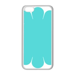 Turquoise Flower Blue Apple Iphone 5c Seamless Case (white) by Alisyart