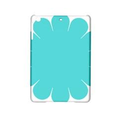 Turquoise Flower Blue Ipad Mini 2 Hardshell Cases by Alisyart