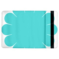 Turquoise Flower Blue Ipad Air Flip by Alisyart