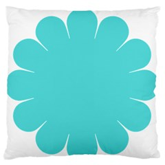 Turquoise Flower Blue Standard Flano Cushion Case (two Sides) by Alisyart