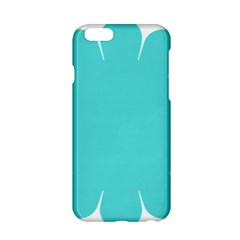Turquoise Flower Blue Apple Iphone 6/6s Hardshell Case by Alisyart
