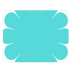 Turquoise Flower Blue Double Sided Flano Blanket (large)  by Alisyart