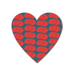 Rose Repeat Red Blue Beauty Sweet Heart Magnet by Alisyart
