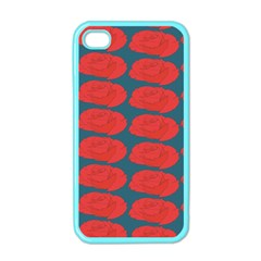 Rose Repeat Red Blue Beauty Sweet Apple Iphone 4 Case (color) by Alisyart