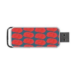 Rose Repeat Red Blue Beauty Sweet Portable Usb Flash (two Sides) by Alisyart