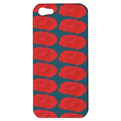 Rose Repeat Red Blue Beauty Sweet Apple Iphone 5 Hardshell Case by Alisyart