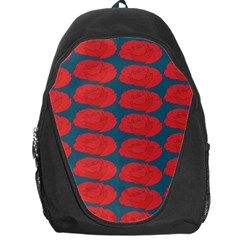 Rose Repeat Red Blue Beauty Sweet Backpack Bag by Alisyart