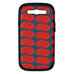 Rose Repeat Red Blue Beauty Sweet Samsung Galaxy S Iii Hardshell Case (pc+silicone) by Alisyart