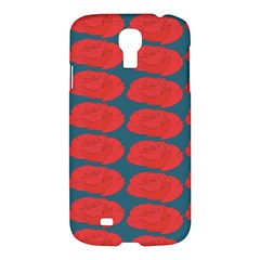 Rose Repeat Red Blue Beauty Sweet Samsung Galaxy S4 I9500/i9505 Hardshell Case by Alisyart