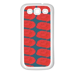 Rose Repeat Red Blue Beauty Sweet Samsung Galaxy S3 Back Case (white) by Alisyart