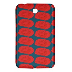 Rose Repeat Red Blue Beauty Sweet Samsung Galaxy Tab 3 (7 ) P3200 Hardshell Case  by Alisyart