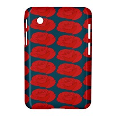 Rose Repeat Red Blue Beauty Sweet Samsung Galaxy Tab 2 (7 ) P3100 Hardshell Case  by Alisyart