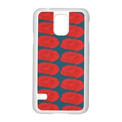 Rose Repeat Red Blue Beauty Sweet Samsung Galaxy S5 Case (white) by Alisyart