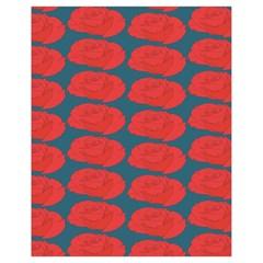 Rose Repeat Red Blue Beauty Sweet Drawstring Bag (small) by Alisyart