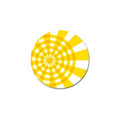 Weaving Hole Yellow Circle Golf Ball Marker by Alisyart