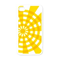 Weaving Hole Yellow Circle Apple Iphone 4 Case (white) by Alisyart